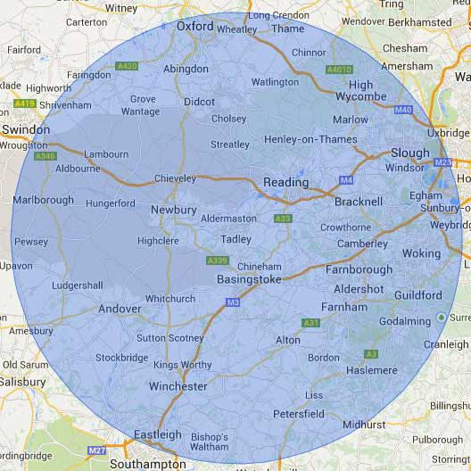 30 mile radius from Tadley